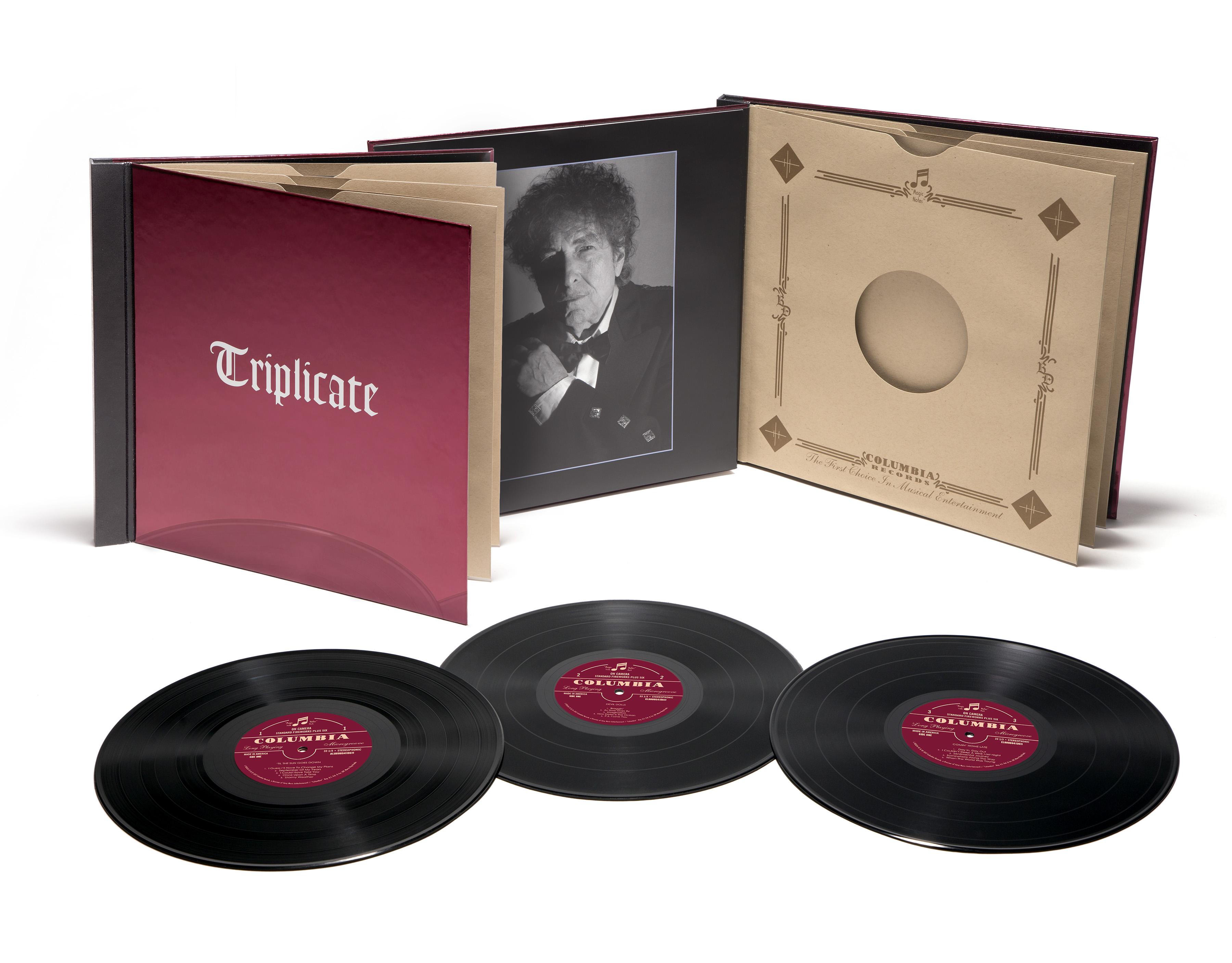 Bob Dylan Triplicate package shot