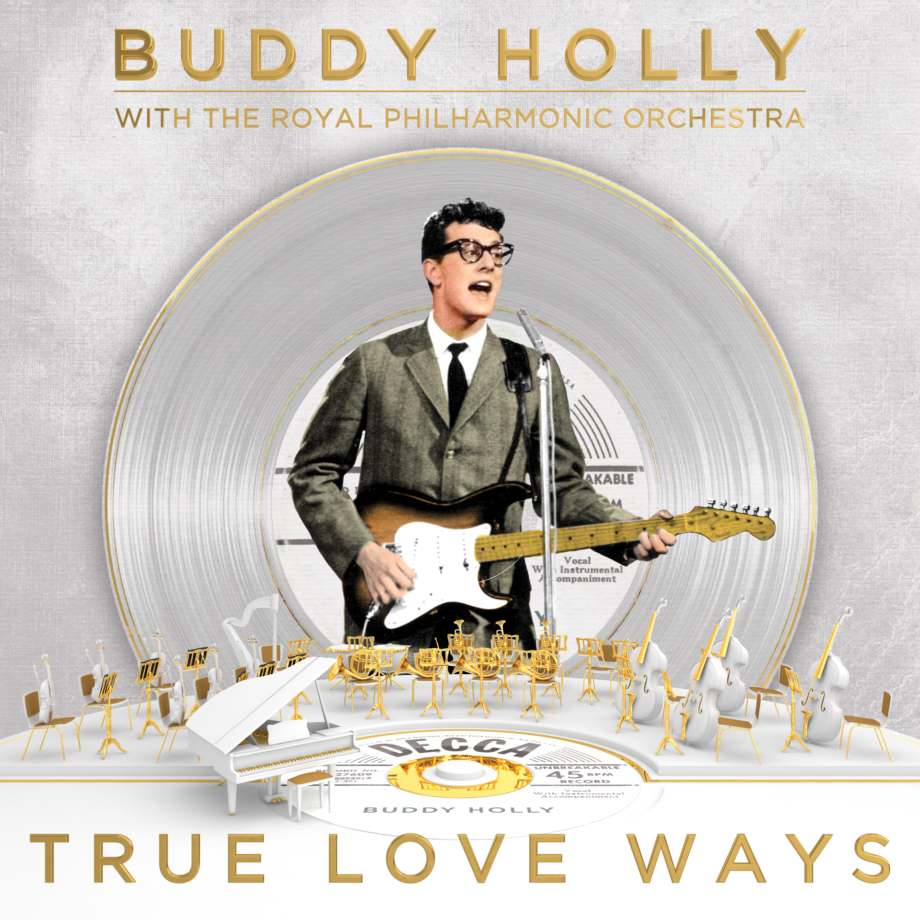 cover art-Buddy Holly with the Royal Philharmonic Orchestra-True Love Ways